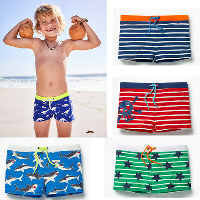 Boys Swimming Trunks Swim Shorts Skull Shark Stars Striped Ages 1 2 3 4 5 6Years