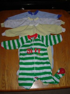 1 pc Toddler Boys/Girls Footed Sleeper Size 18 Months, Lot of 4 (BAG #9)