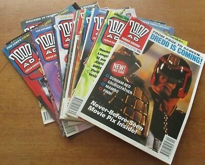 2000 AD FEATURING JUDGE DREDD- PROG 921 -PROG 940  -20 issues