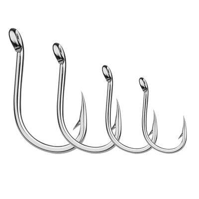 Lots 200pcs Offset Sport Circle Fishing Hook Black High Carbon Steel Fish Hook H