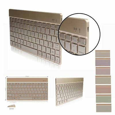 DINGRICH Bluetooth Keyboard with Backlit,Easy Carrying Ultra Slim 7 Color with