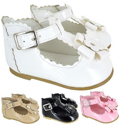 Girls Baby Infants Childrens Summer Wedding T Bar Party Shoes Sandals  Size 8-1