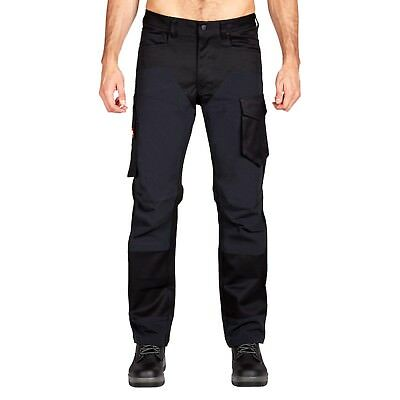 Hard Yakka Legends 3D Stretch Pants in Black/Black 87R - 87cm / 34 Inches