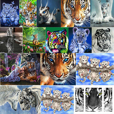 Tiger 5D Diamond Painting Diamant DIY Kreuzstich Stickerei Malerei Bilder Deko
