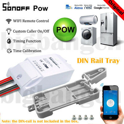 Sonoff ITEAD Smart Home Set WiFi DIY Wireless Switch Module DIN Rail Tray Remote