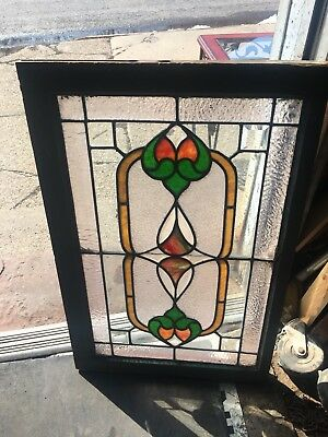 Beautiful American Architectural Leaded Stained Glass Window From Mansion