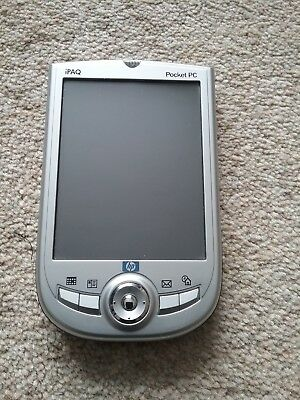HP IPAQ H1940 Compaq PDA pocket computer + Leather case spare battery cables etc