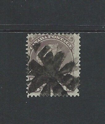 CANADA - #29 - 15c LARGE QUEEN VICTORIA WITH FANCY CANCEL (1868)
