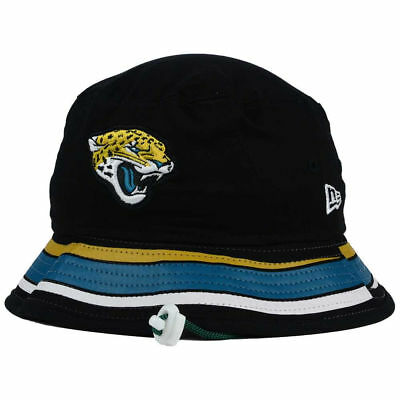 5b85771e446 Jacksonville Jaguars NFL Team Stripe Bucket New Era Training Camp Men s Hat  Cap