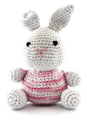 Hoooked DIY Amigurumi Crochet Kit Nila Bunny Marshmallow Eco Barbante Hooked
