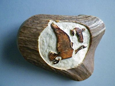 **CLOSE-OUT SALE** Vintage Hand-Crafted Signed Geese Belt Buckle