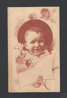 1884 Advertising Trade Card Hat & Bonnets Mrs Belle Kuney's Rooms Waterloo NY