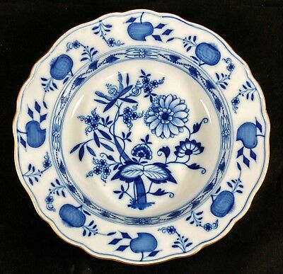 #2 Antique GERMAN Porcelain BLUE WHITE MEISSEN Dinner PLATE Floral ONION Pattern