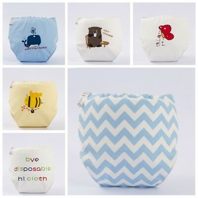 1x Washable Baby Cloth Diaper Cover Waterproof Girls Boys Reusable Cloth Nappy