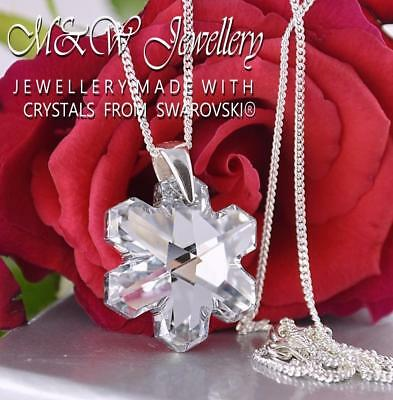925 Silver Necklace Crystals From Swarovski® SNOWFLAKE Crystal Cal 20mm