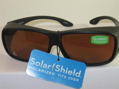cc9700dc15 FOSTER GRANT POLARIZED Solar Shield Fit Over Sunglasses Large Size ...