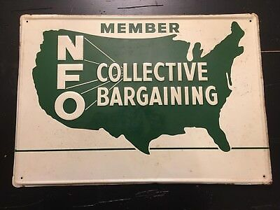 1960's NATIONAL FARMERS VINTAGE ADVERTISING UNION SIGN