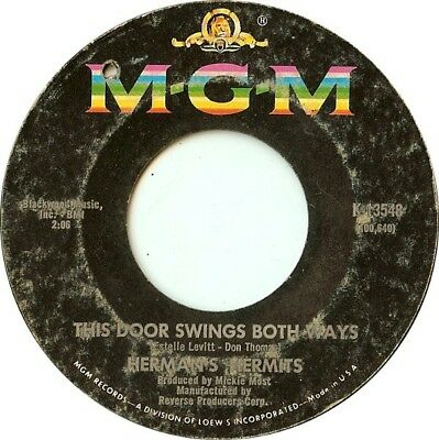 Hermans Hermits This Door Swings Both Ways / For Love Vinyl Single 7inch