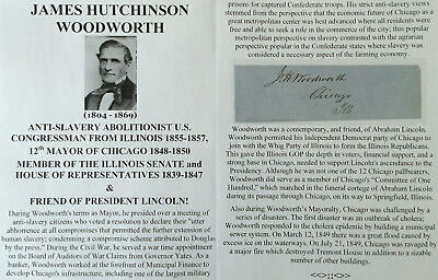 President Lincoln Abolitionist Congressman Mayor Chicago Il Autograph Signed Vf!