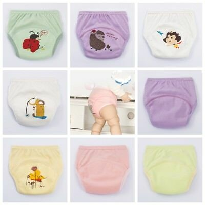 1x Baby Cloth Diaper Cover Breathable Cotton Waterproof Reusable Cloth Nappy