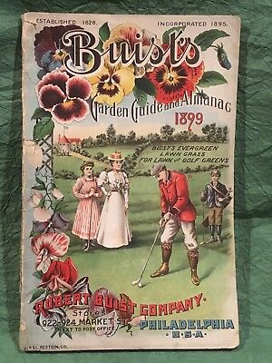 1899 Antique Book Golf Cover Seeds Farming Garden Brochure Philadelphia Golfer