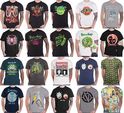 Rick And Morty T Shirt Pickle Rick Portal spiral Nue offiziell Herren