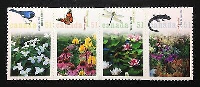 Canada #2145i Die Cut MNH, Gardens Strip of Stamps 2006