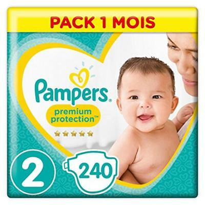 (TG. Taglia 2 (3-6 kg)) Pampers Premium Protection New Baby Size 2, 240 strati,