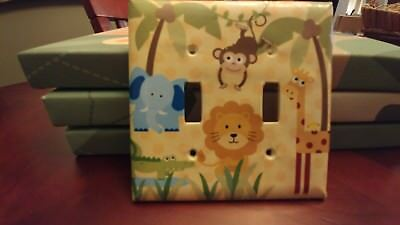 Outlet cover nursery jungle theme (double switch)