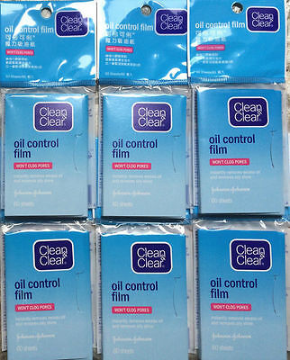 6 Clean & Clear Oil Control Film Blotting Paper total 360 sheets made in Japan
