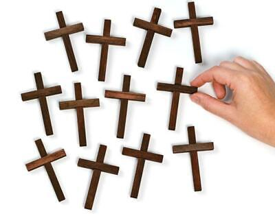 12 Wooden Crosses for Christian Crafts | Christmas Ornaments to Decorate