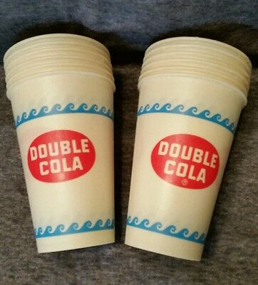 Vintage 12oz DOUBLE COLA Soda Wax Cups 25 Count SOLO Cup Co. NOS Advertising