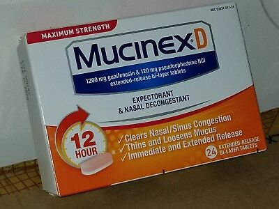 Mucinex D Maximum Strength 1200mg Extended-Release Tablets - 24 Tablets