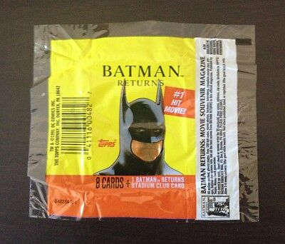 1992 Topps Batman Returns (Movie) - Wrapper (Souvenir Magazine Variation)