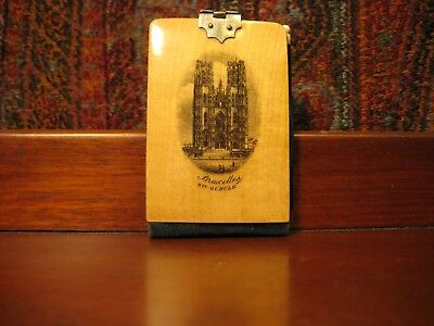 Rare Antique Victorian Mauchline Ware Notebook With Pencil C1890