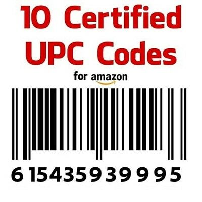 10 Amazon UPC Numbers Bar Code EAN Amazon Lifetime Guarantee