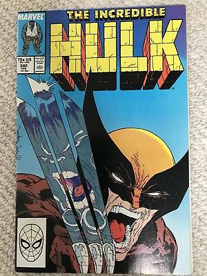 Incredible Hulk 340 McFarlane, Wolverine, KEY ISSUE VFN