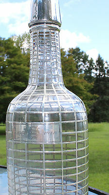 1911 HEAVY Fine Sterling Silver Overlay Whisky decanter Bottle 1900s Tiffany?