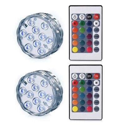 2 Pieces Remote control waterproof diving lights Underwater Lights LED Mult S7W7