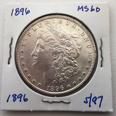 1896 $1 Morgan Silver Dollar Beauty Easy MS Great Luster - Priced to Sell!