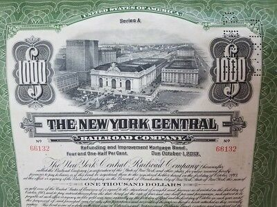 $1000 New York Central Railroad Company 4 1/2% Refunding and Imp. Mortgage Bond