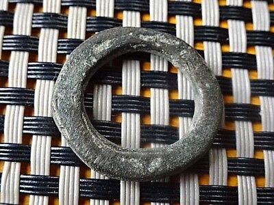 Authentic Celtic Bronze Ring-Proto Money 300 Bc Very Rare