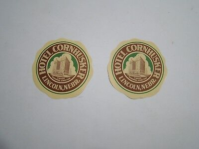 Vintage Hotel Cornhusker Trunk/Suitcase Labels