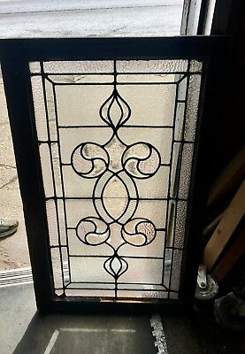 Rare Art Nouveau Antique Architectural Heavy Beveled Window From Mansion In N Y