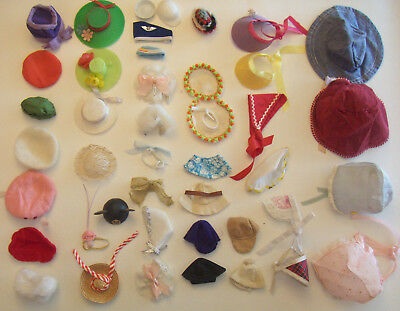 Vintage 43 Pc Hat Lot Madame Alexander Hats Alex & Smaller & Larger Dolls Clones