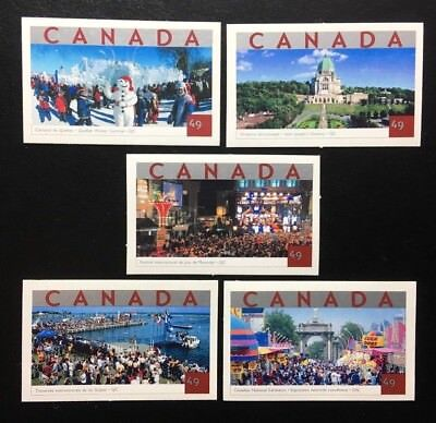Canada #2019-2023 Die Cut MNH, Tourist Attractions Set of Stamps 2004