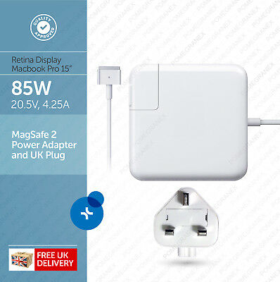 "Apple 85W MagSafe 2 Power Adapter for 15"" Macbook Pro Retina Display :: A1424"