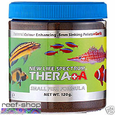 New Life Spectrum Thera A 120g (4.23 oz) Small Fish 0.5mm Pellet FREE USA SHIP!