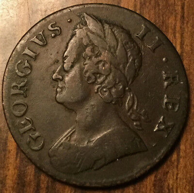 1757 United Kingdom Halfpenny