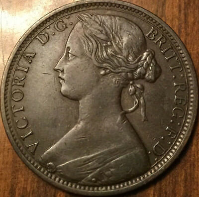 1863 UNITED KINGDOM ONE PENNY - A beautiful example !